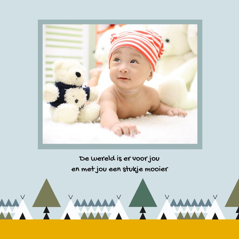 Geboorte jongen bos thema 1 2