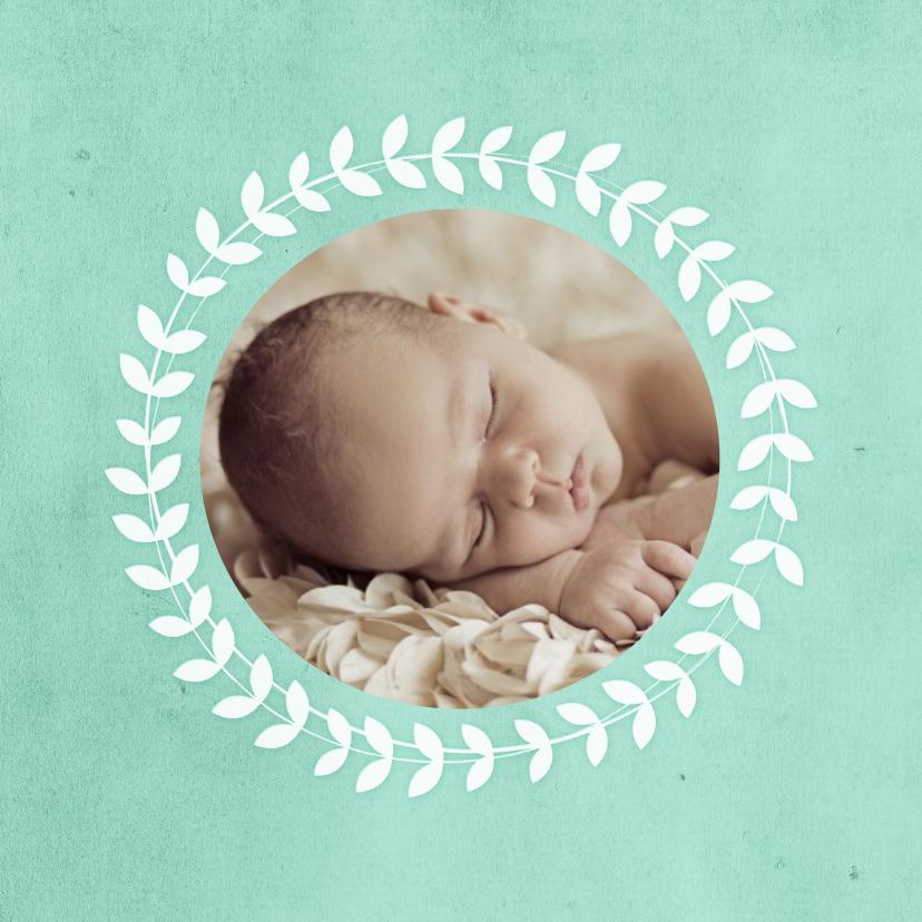 Geboorte jongen cirkel bladeren 2