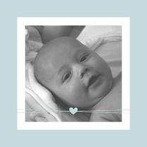 Geboortekaartjes - Geboorte -jongen-hartje-en-foto