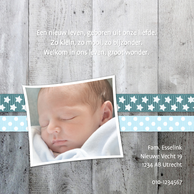 Geboorte Jongen Hout Lint lief 2