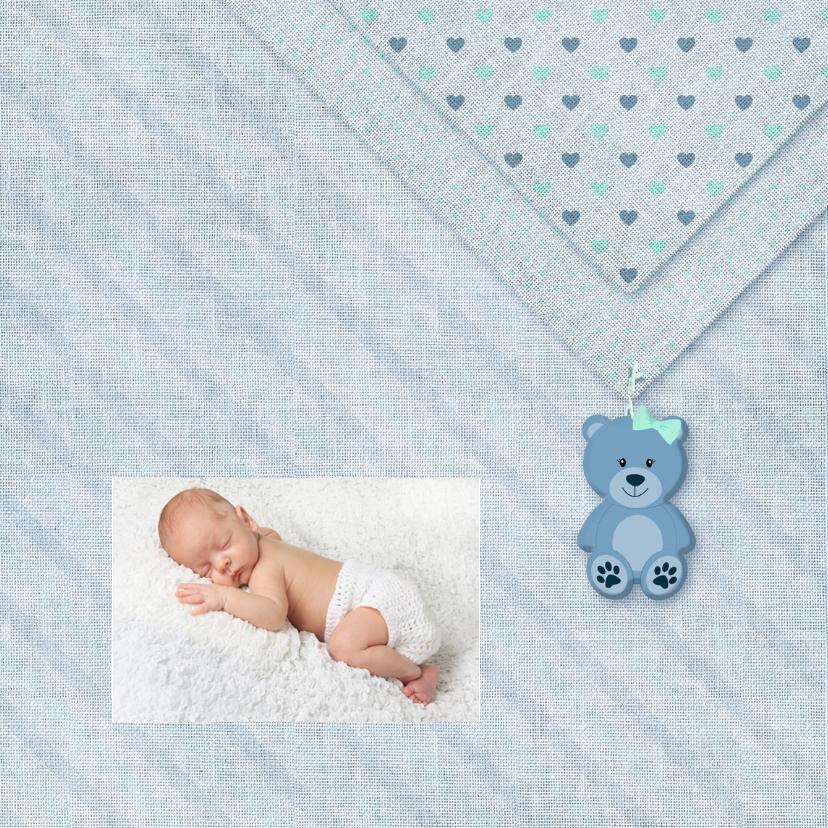 Geboorte jongen linnen-print 2