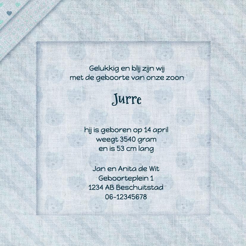 Geboorte jongen linnen-print 3