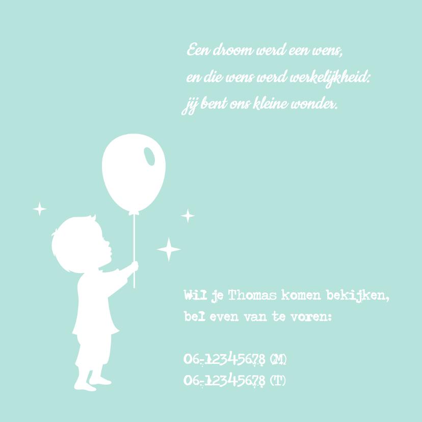 Geboorte Jongen Silhouet Balans 2