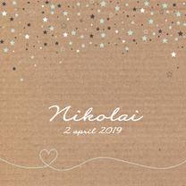Geboortekaartjes - Geboorte -Karton, sterren jongen