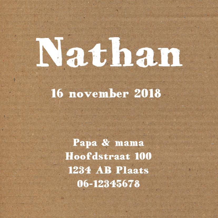 Geboorte - Karton strikje jongen 3