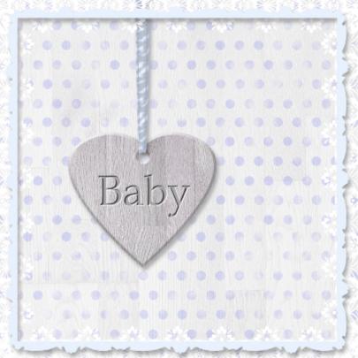Geboorte kleinzoon - houten hart 2