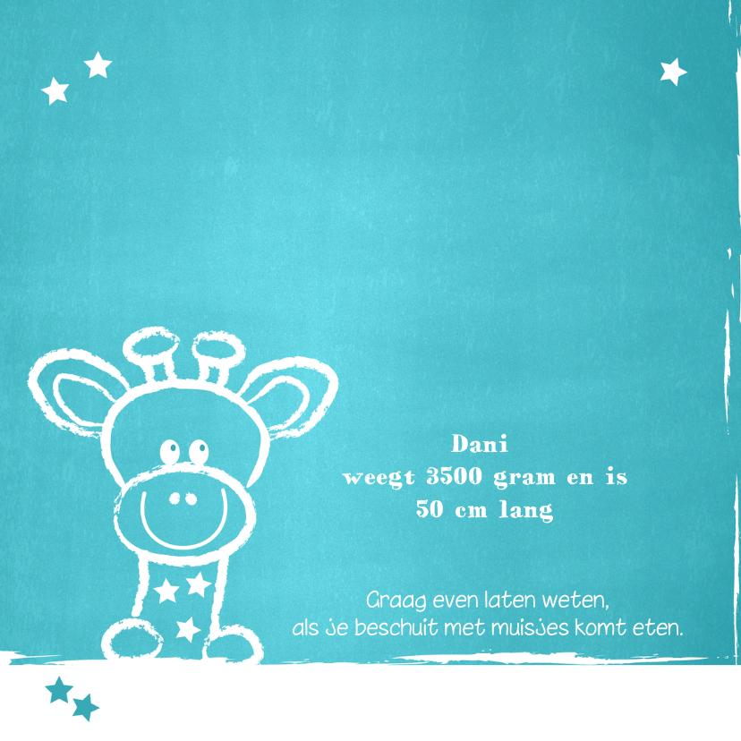 Geboorte lief giraffe blauw 2