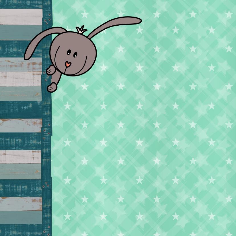 geboorte lief konijntje groen 2