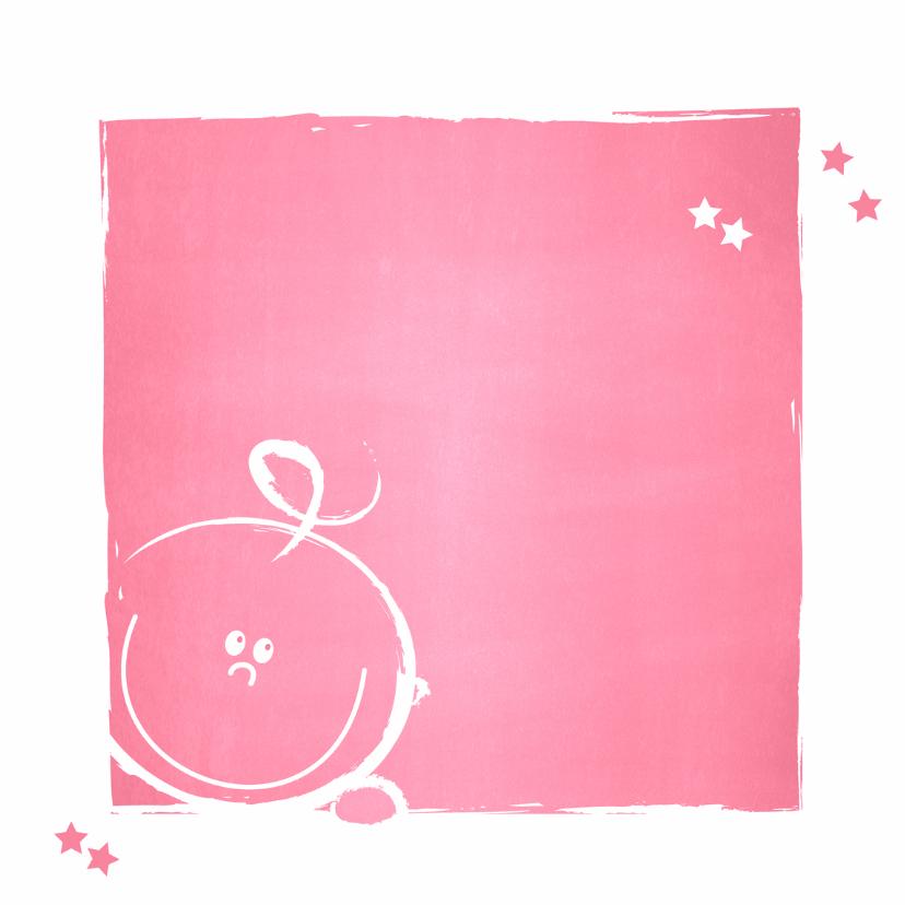 Geboorte Lief roze baby kaartje 2