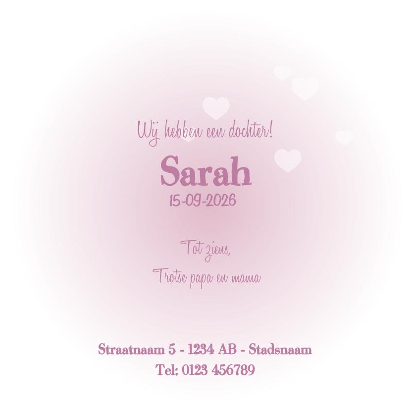 Geboorte lief roze meisje hart 3
