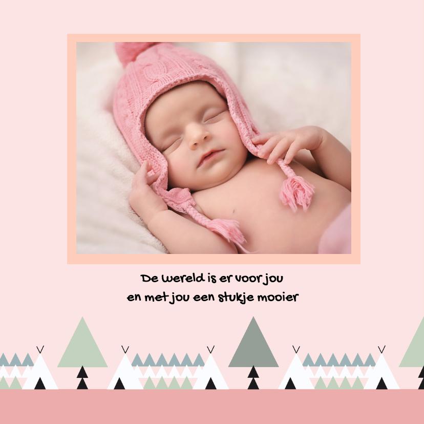 Geboorte meisje bos thema 1 2