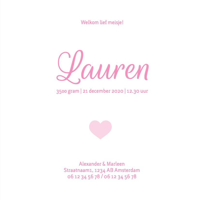 Geboorte meisje roze konijn Lauren - MW 3