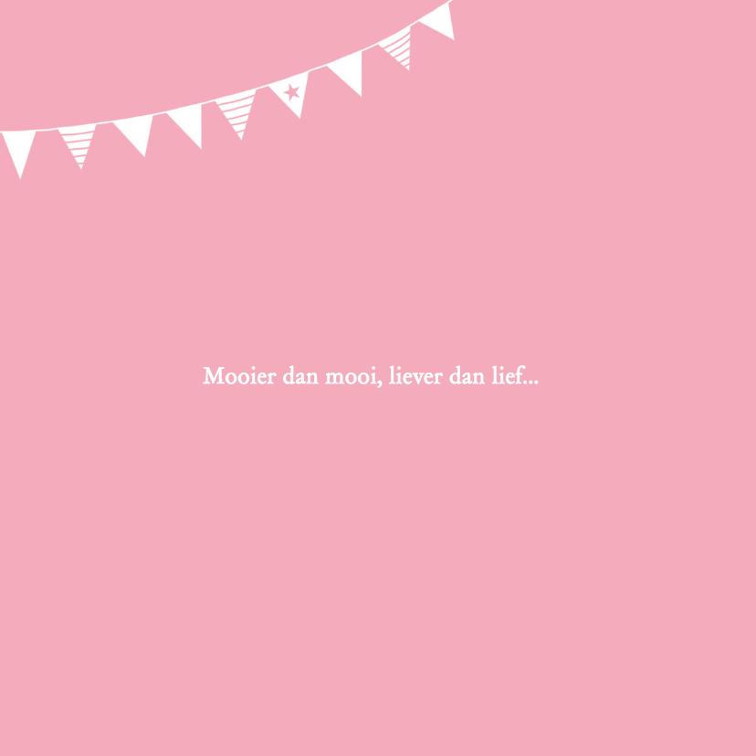 Geboorte meisje roze silhouet Fleur - MW 2