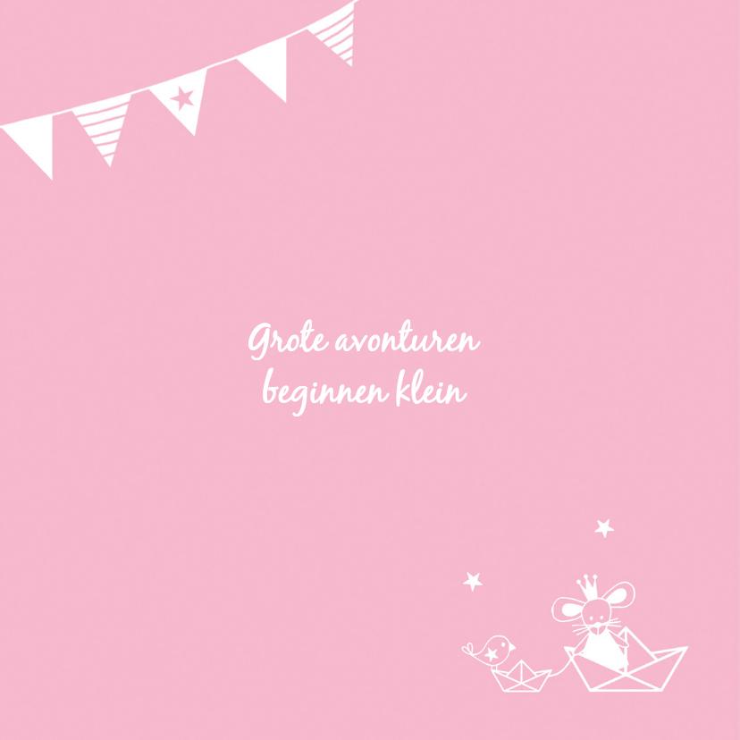 Geboorte meisje roze silhouet Louise - MW 2