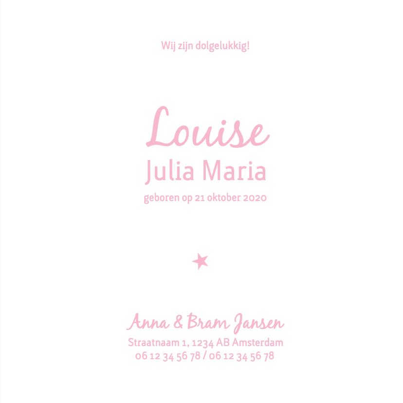 Geboorte meisje roze silhouet Louise - MW 3