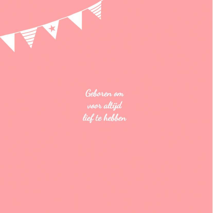 Geboorte meisje roze silhouet Saartje - MW 2