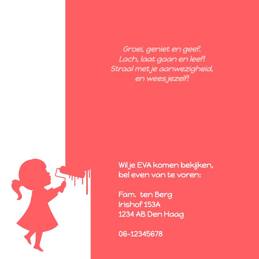Geboorte Meisje Silhouet Verf 2