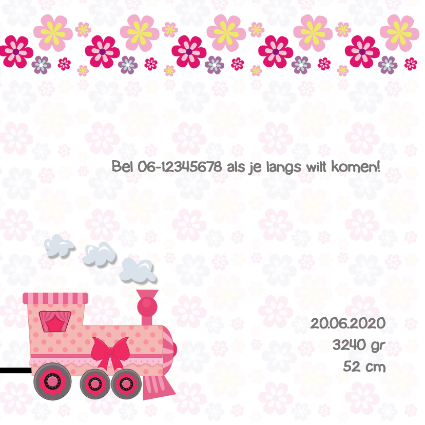 Geboorte meisje-trein-speelgoed 2