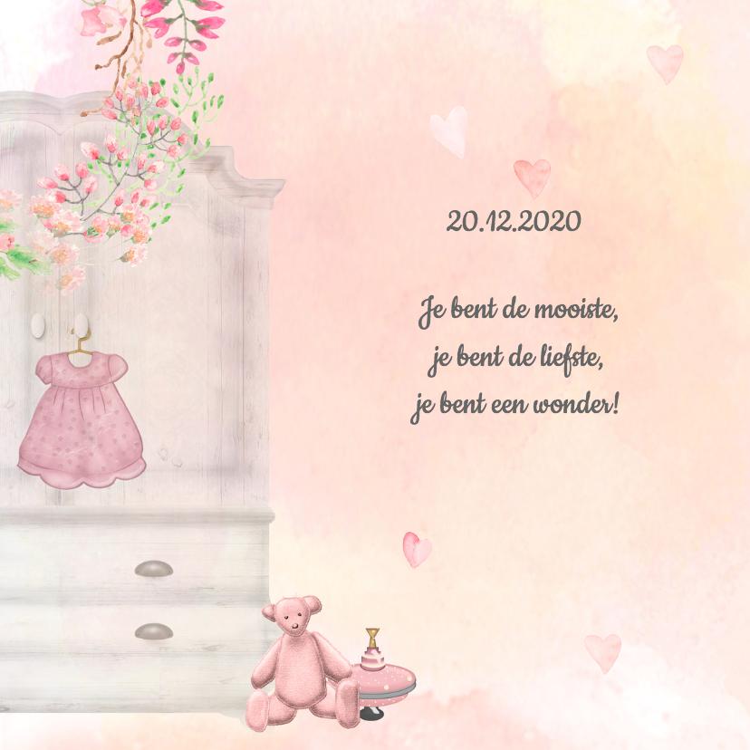 Geboorte meisje waterverf -beer- 2