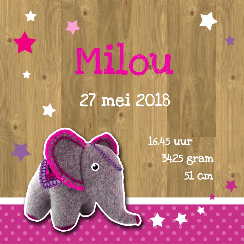 Geboorte olifant vilt roze - HR 2