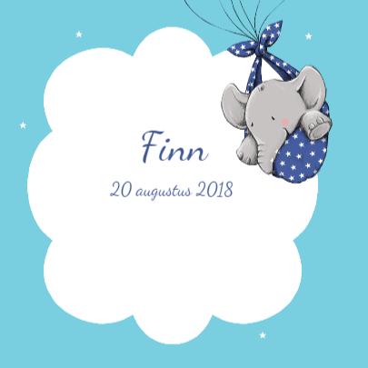 Geboorte olifantje ballon - IH 3