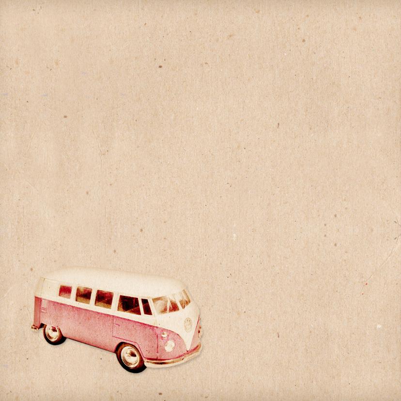 Geboorte retro busje roze - BK 2