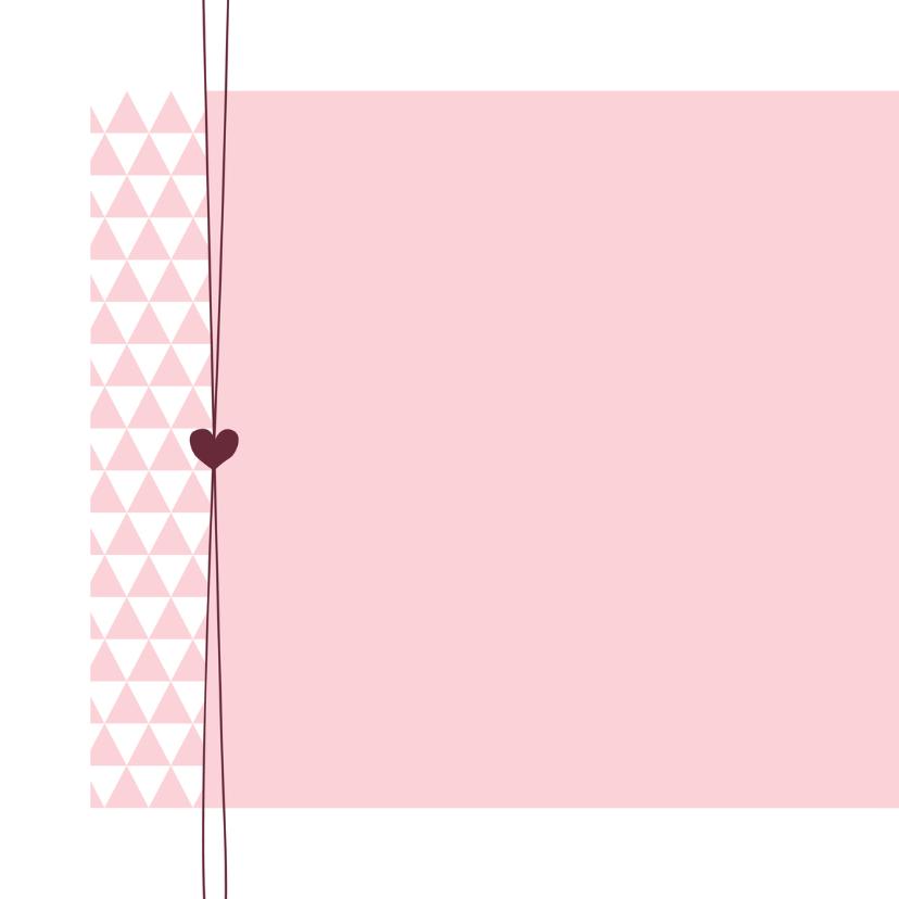 Geboorte - Roze, driehoek, hart 2