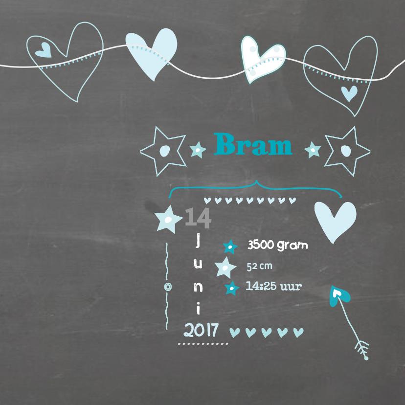Geboorte Schoolbord Foto Bram 3