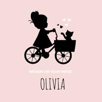 Geboortekaartjes - Geboorte silhouet olivia - B