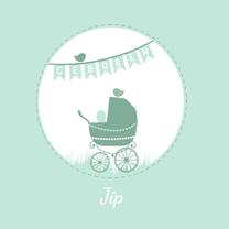 Geboortekaartjes - Geboorte silhouette jip - B