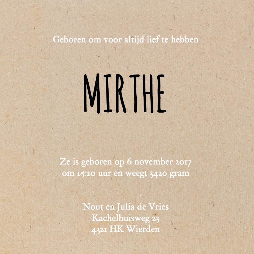 Geboorte silhouette mirthe - B 3
