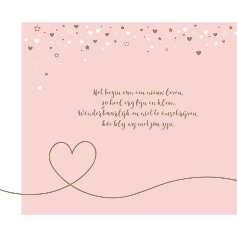 Geboorte - Sterren en hartjes meisje 2