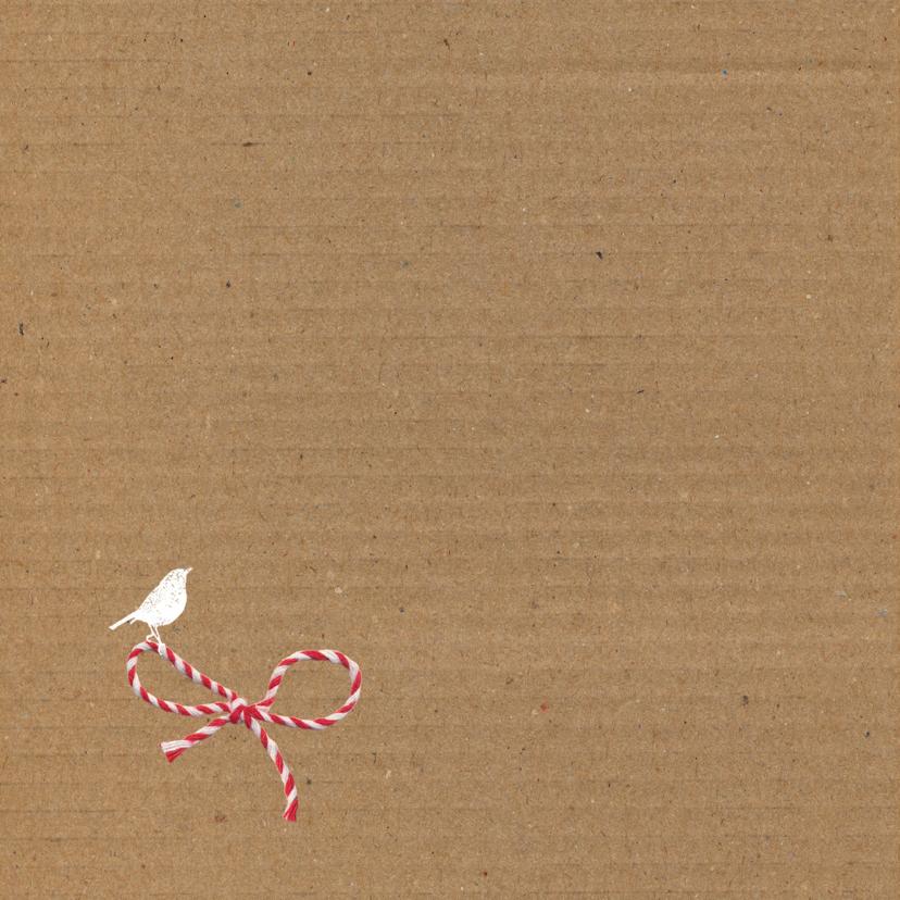 Geboorte - Strikje karton roze 2