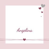 Geboortekaartjes - Geboorte - Trendy-hartje-roze