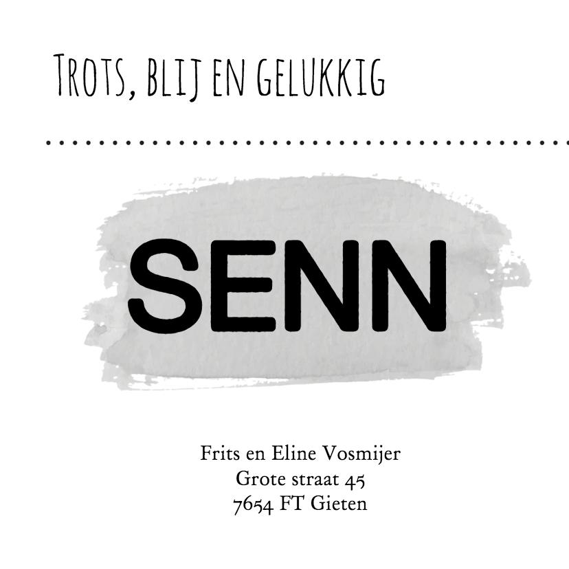 Geboorte typografisch senn - B 3