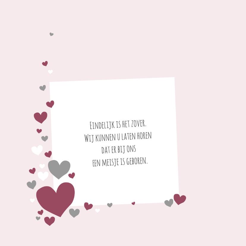 Geboorte - Veel roze hartjes 2