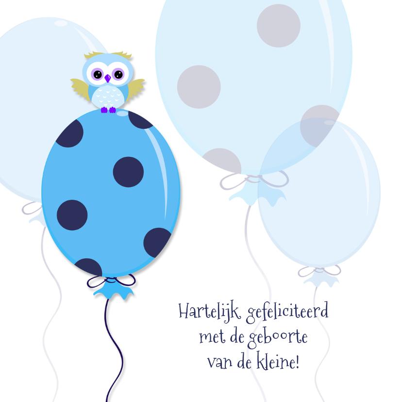 Geboorte vieren blauwe ballon felicitatiekaarten kaartje2go - Baby boy versiering van de zaal ...