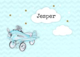 Geboortekaartjes - Geboorte vliegtuig vintage