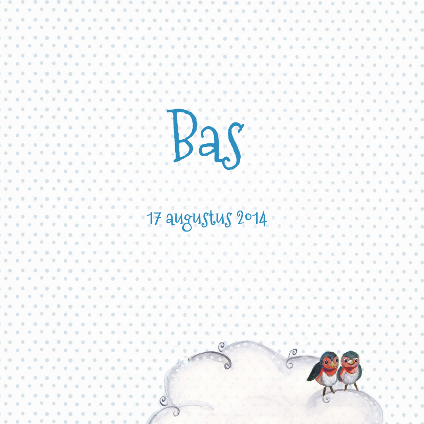 Geboorte Waslijn Jongen Wolken 3