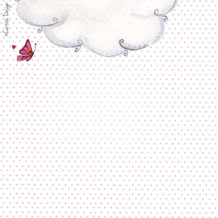 Geboorte Waslijn Meisje Wolken 2