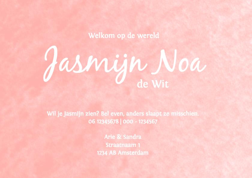 Geboorte waterverf Jasmijn - DH 3