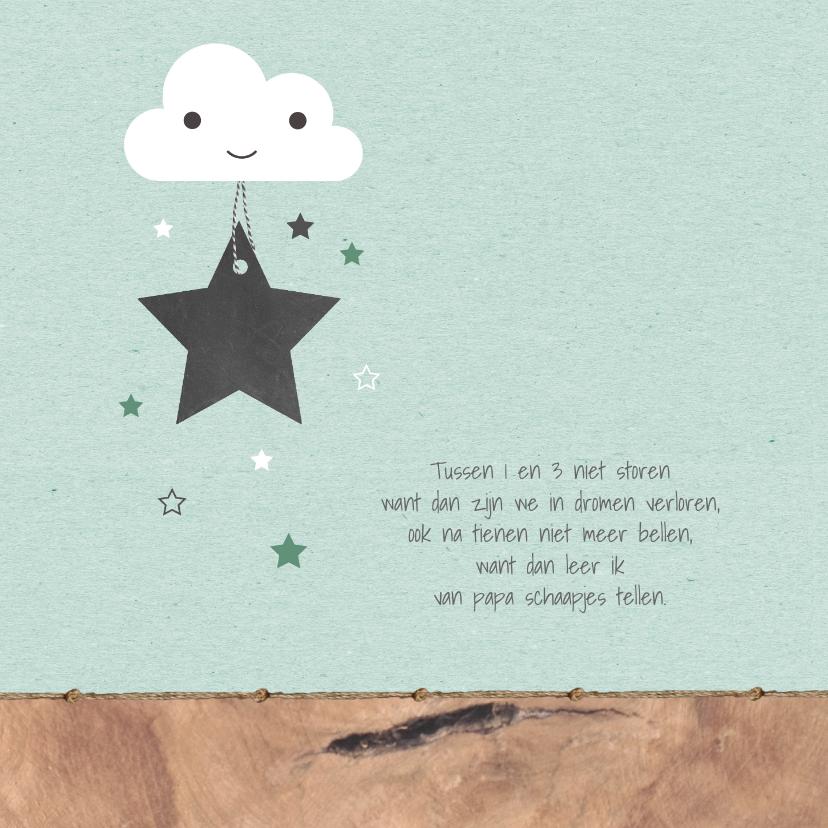 Geboorte - Wolkje, sterren, hout 2