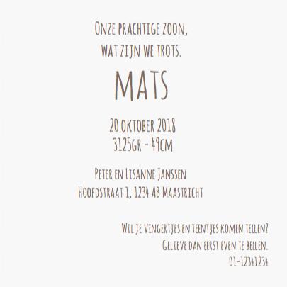 Geboortekaart Anker Mats 3