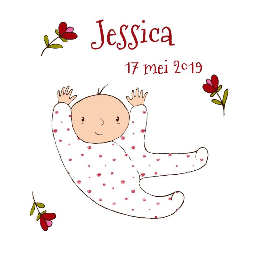 Geboortekaart baby meisje kl-HR 2