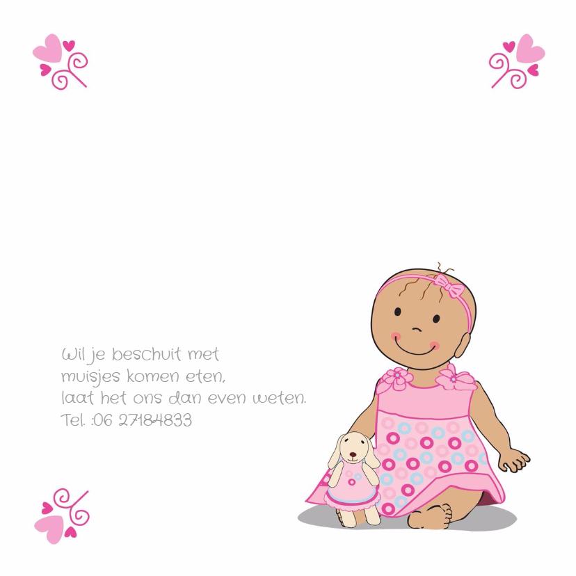 geboortekaart baby met haarband 2
