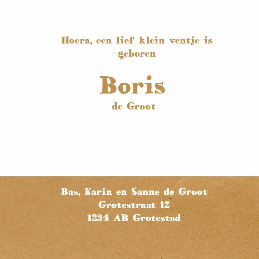 Geboortekaart - Broer Boris - MW 3