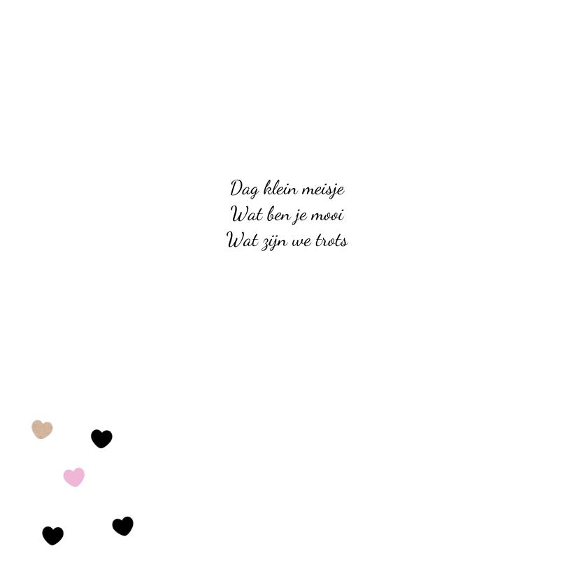 Geboortekaart Cirkel hartjes 2