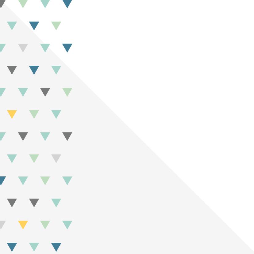 Geboortekaart driehoek kleur jongen 2