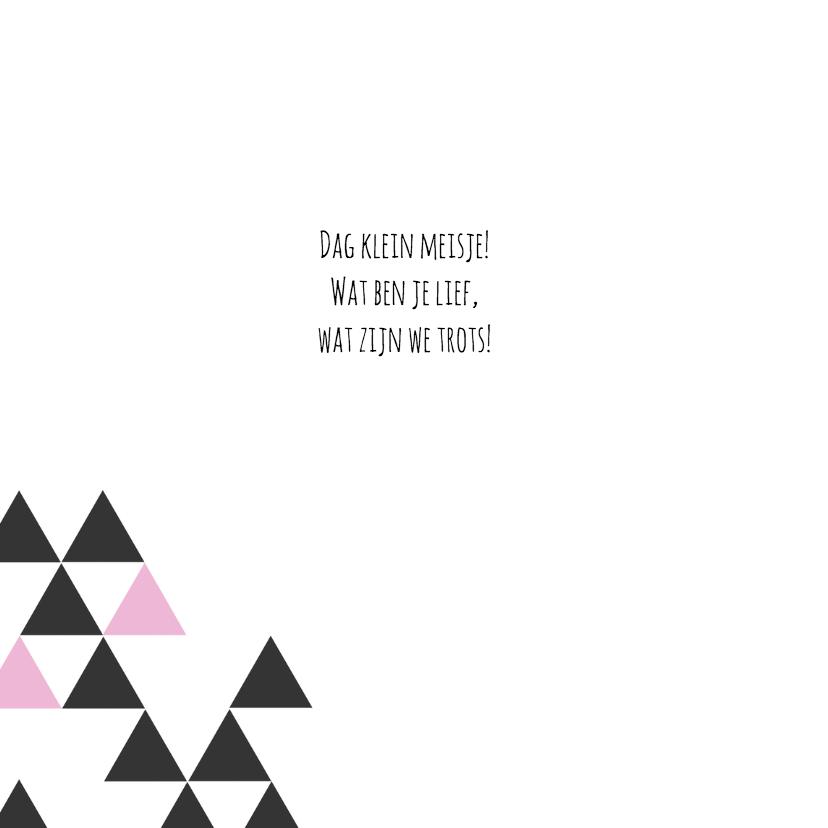 Geboortekaart driehoek meisje 2