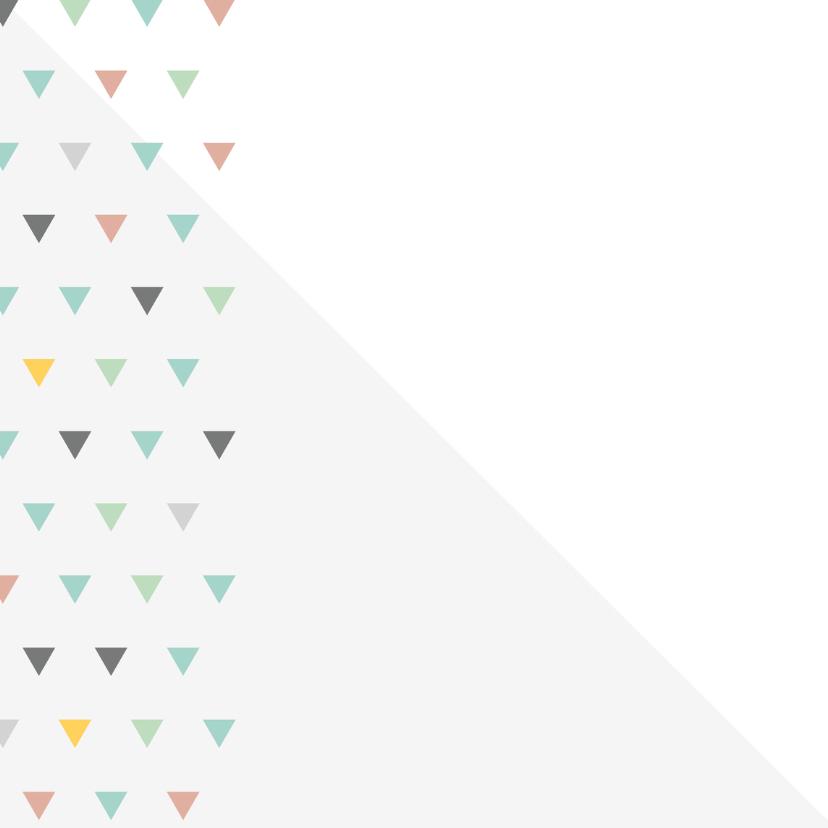 Geboortekaart driehoekjes kleur meisje 2